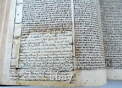 1527 TEXTUS BIBLE POST INCUNABULA antique ILLUSTRATED FOLIO 16th CENTURY RARE