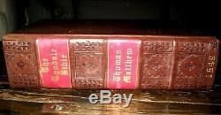 1549 HOLY BIBLE Folio ENGLISH Church TYNDALE Matthew FINE BINDING Rare ANTIQUE