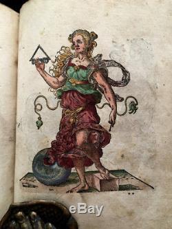 1580 GERMAN ALBUM AMICORUM Bound/W Jost Amman's INSIGNIA Book HERALDRY RARE