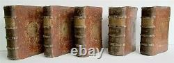 1585 SET of 5 SERMONS for WHOLE YEAR in LATIN antique PARIS 16th CENTURY RARE