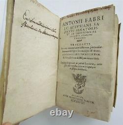 1598 ECONOMY & LAW BOOK by Antoine FAVRE antique 16th CENTURY RARE VELLUM BOUND