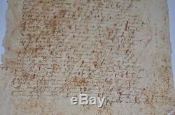 15th century Latin Manuscript Beautiful Interesting antique Uniqu Extremely rare