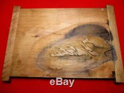 16-450 RARE Japanese Carving WOODBLOCK of Woodblock print book SOBUN