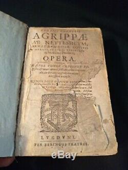 1600 Opera Agrippa Magic Occult Alchemy Very Rare