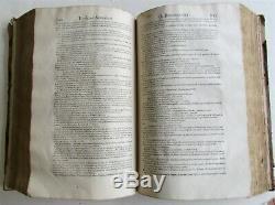 1613 SENECA PHILOSOPHI LEATHER BOUND antique FOLIO in LATIN rare