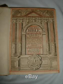 1673 Antique Leather Bible King James Rare Cambridge University by John Hayes