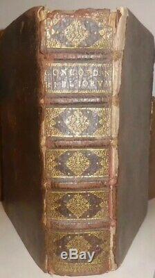 1677 Antique Rare Book Biblical Concordance 17 Cenury