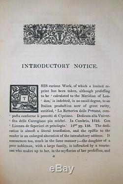 1683/1836 RARE (1 of 50) THE WHORES RHETORICK Prostitution Sex Lessons Romance
