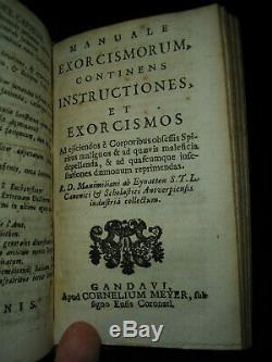 1687 Manuale Exorcismorum Exorcisms Extremely Rare