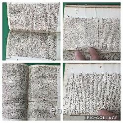 16th C-17th C. Theology Manuscript Book Calligraphy Handwritten 872 Pages RARE