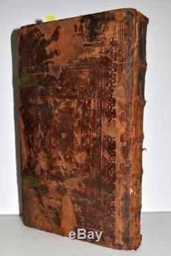 1727 Tur Amazing wooden binding rare book Judaica Hebrew antique signatures WOW