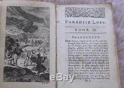 1746 Antique Very Rare Book Paradise Lost, a Poem in Twelve Books by J. Milton