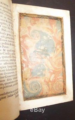 1754 Hollowed Out Book Safe Hidden Cutout within Antique Book Rare