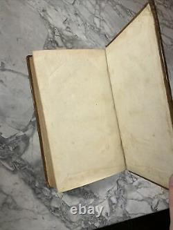 1762 Antique Leather Math Book Introduction to the Mathematicks Rare