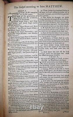 1765 Antique RARE EARLY STANDARDIZED KING JAMES HOLY BIBLE Old and New Testament