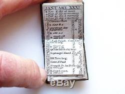 1788 Miniature Book London Almanac/almanack In Leather Wallet- Georgian -rare