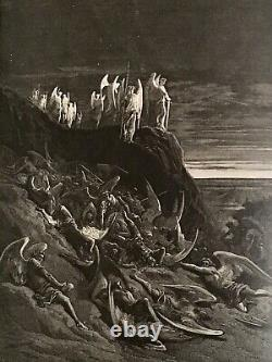 1800s PARADISE LOST Milton with 52 Gustave Dore ANTIQUE Art Prints Engravings RARE