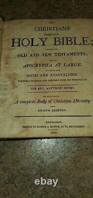 1809 Matthew Henry bible, Old Bible, Apocrypha, antique bible, Rare book, Christ