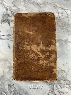 1811 Antique Leather History Book A Picture of Philadelphia RARE