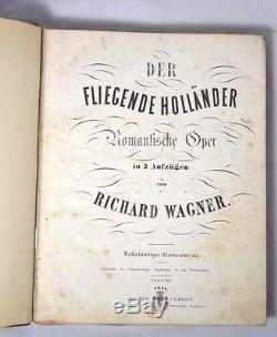 1844 Rare Antique Der Fliegende Hollander/The Flying Dutchman Richard Wagner