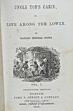 1852 UNCLE TOM'S CABIN Black African Slavery 1ST ED Antique RARE Civil War US A