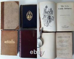 1854- 1926 ANTIQUE FINE BINDING x10 JOBLOT RARE BOOKS COLLECTOR RARE TITLES