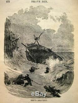 1875 Maritime Ocean Sea Antique THE LIFE OF A SHIP Sail Shipwreck Nautical RARE