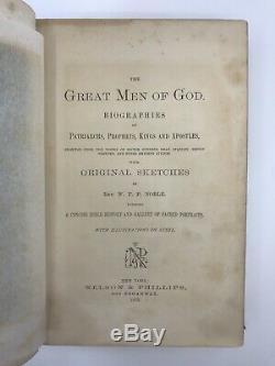 1875 Rare Antique Biblical Christian Apostles Prophets Steel Portrait Engravings