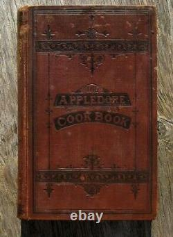1878 APPLEDORE Antique COOKBOOK Victorian Vintage COOKERY Recipes Home RARE OLD