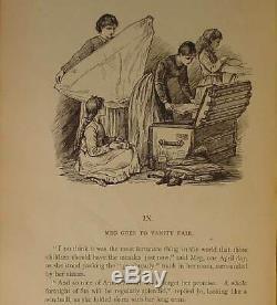 1880 LITTLE WOMEN Civil War Victorian Book RARE Antique Doll Slavery vtg ALCOTT