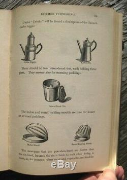 1881 ANTIQUE COOKBOOK Cookery Victorian Vintage Recipes Parloa Pastry Rare Old
