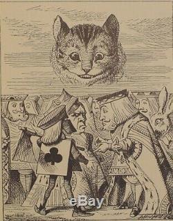 1883 ALICE IN WONDERLAND Antique TENNIEL Disneyana RARE Childrens LEWIS CARROLL