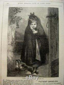 1883 FAIRY TALES Antique ILLUSTRATED Victorian FANTASY Magic WITCH Elf RARE BOOK