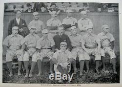 1889 Baseball Boston New York Chicago Baltimore Antique Illustrated Sports Rare