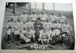 1889 Baseball Rare Antique Illustrated Boston New York Chicago Baltimore Sports