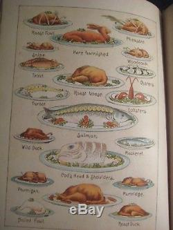 1889 Rare Antique Victorian House Wife's Guide Home Cookbook Etiquette Sold $284