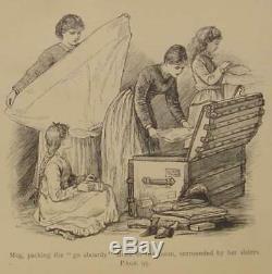 1891 LITTLE WOMEN Civil War Victorian RARE Antique SLAVERY men LOUISA MAY ALCOTT