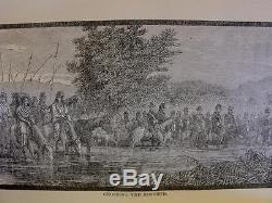 1891 WILD LIFE PLAINS General Custer INDIAN WAR Rare ANTIQUE BOOK 1st Ed VTG