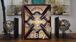 1892 Antique Family Holy Bible Huge GOLD Leather KJV VTG Illustrated RARE ART