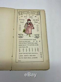 1896 Horn Book Jingles by Mrs Arthur Gaskin Antique Rare Children's Book