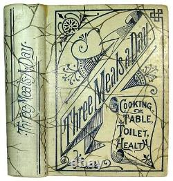 1896 RARE VICTORIAN COOKBOOK Vintage Cookery Pastry Confectionery ANTIQUE OLD