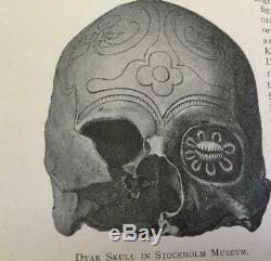 1896 rare 700 BORNEO SARAWAK HEADHUNTERS SHIELDS SLAVES WEAPONS TATOO 500 FOT0