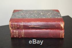 1897 2 vol. Set Origin of the Species Charles Darwin Antique Appleton RARE