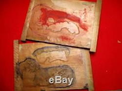 19-740 RARE Japanese Carving WOODBLOCK of Woodblock print book SOBUN