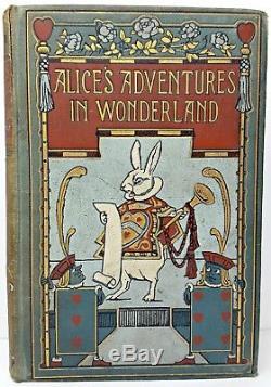 1907 ALICE IN WONDERLAND Antique FIRST ED Alice's RARE Adventures LEWIS CARROLL