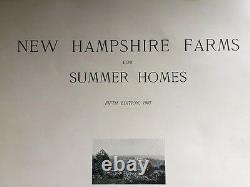 1907 New Hampshire NH Antique Edwardian Era Farm Summer Home Book Rare Original