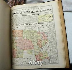 1907 Standard Atlas of St. Joseph County, Michigan with Plat Book HB Ogle 1st RARE