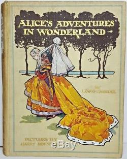 1908 ALICE IN WONDERLAND Antique FIRST ED Alice's RARE Adventures HARRY ROUNTREE