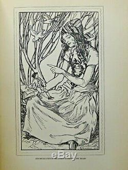 1909 Gulliver's Travel FIRST Edition Arthur Rackham Fairy Tale Antique Book RARE