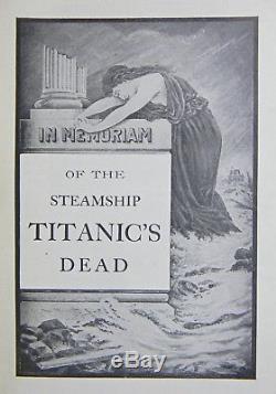1912 TITANIC Antique 1ST ED Maritime RARE Carpathia RMS Cunard WHITE STAR LINE
